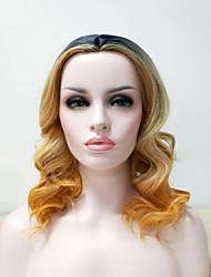 billige -Syntetiske parykker Lige Blond Syntetisk hår Blond Paryk Dame Kort Lågløs