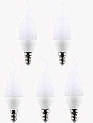 7W E14 LED Candle Lights CA35 12 leds SMD 2835 Warm White Cold White 550-600lm 3000/6500K AC 220-240V