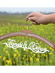 Wedding Shower Gift Bridal Hanger Personalized Wedding Hanger with Bride Name Brown Hanger White Lettering