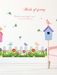 Botanical Cartoon Flowers Wall Stickers Words & Quotes Bedroom Wall Stickers Plane Wall Stickers Home Decoration Wall Decal