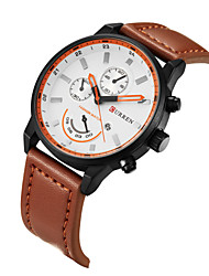 Men's Wrist watch Sport Watch Dress Watch Fashion Watch Quartz Genuine Leather Band Charm Casual Multi-Colored