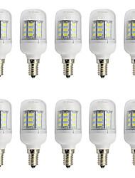 abordables -10pcs 3 W 280 lm E26 / E27 Ampoules Maïs LED T 27 Perles LED SMD 5730 Décorative Blanc Chaud / Blanc Froid 12-24 V / 10 pièces / RoHs