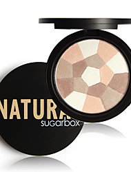 cheap -1Pcs Sugar Box Multi-Colored Pressed Powder Nude Wear Nude Glow Finishing Perfescting Setting Powder