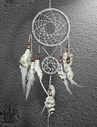 cheap -2PC Dream Catcher Decor Hanging With Feathers Hanging Decoration Dreamcatcher Net India Style Hourse Decoration