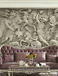 cheap -Art Deco Wallpaper For Home Wall Covering Canvas Adhesive required Mural Gray Large Relief Background XXXL(448*280cm)XXL(416*254cm)XL(312*219cm)