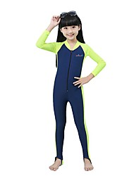 BlueDive® Kid's Wetsuits Dive Skins Wetsuit Skin Full WetsuitBreathable Quick Dry Anatomic Design Ultraviolet Resistant YKK Zipper
