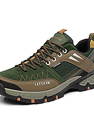 Men's Athletic Shoes Comfort Spring Fall Breathable Mesh PU Hiking Shoes Casual Outdoor Lace-up Flat Heel Orange Army Green Khaki Flat