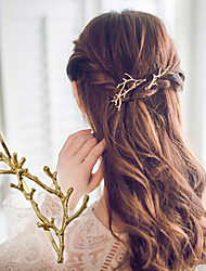 cheap -1 Pcs Antlers Branch Alloy Edge Clip Hairpin Princess Clip Accessories Fashion And Personality