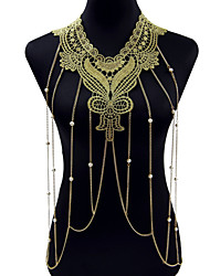 cheap -Flower Lace Body Chain - Gold Bohemian / Fashion Body Jewelry For Christmas Gifts / Party / Special Occasion