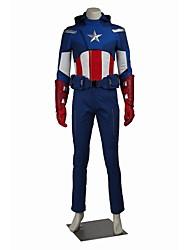 Superhéros Cosplay Costume de Cosplay Pour Halloween Costume de Soirée Bal Masqué Cosplay de Film Manteau Pantalon Gants Ceinture Chapeau