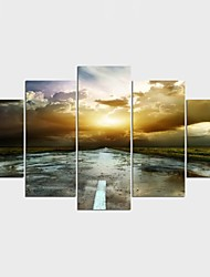 Stretched Canvas Print Landscape Leisure Modern Classic,Five Panels Canvas Any Shape Print Wall Decor For Home Decoration