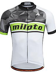 Недорогие -Miloto Велокофты Муж. С короткими рукавами Велоспорт Рубашка Толстовка Джерси Верхняя часть Быстровысыхающий Влагопроницаемость