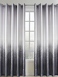 cheap -Rod Pocket Grommet Top Tab Top Double Pleated Two Panels Curtain Country Living Room 100% Polyester Polyester Material Curtains Drapes