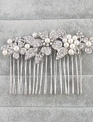 cheap -Imitation Pearl Rhinestone Hair Combs 1 Wedding Special Occasion Headpiece
