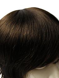 abordables -6 * hommes 8inch moumoute bonne qualité humaine cheveux raides vierge