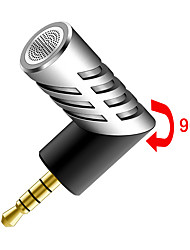 Professional Mic Super small size rotatable R1 Mini Condenser Microphone Mobile Phone Microphone Record for talk recording