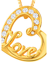 cheap -Pendant - Imitation Diamond Heart, Love Pendant Gold For Daily / Casual