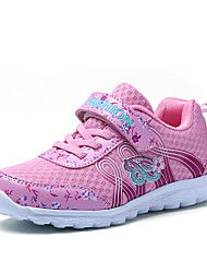 Girl's Athletic Shoes Spring Summer Fall Comfort Tulle Outdoor Casual Athletic Flat Heel Buckle Pink Purple