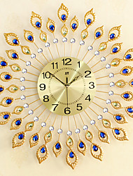 cheap -Creative Peacock Wall Clock Of Europe Type StyleFashion Metal Set Auger ClockSitting Room Quiet Quartz Bracket Clock 67*67CM