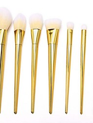 cheap -YZIMENG® 7pcs Golden Unicorn Makeup Brushes Set Blush/Eyeshadow/Lip/Eyebrow/Concealer/Powder Portable Synthetic Hair Make Up for Face