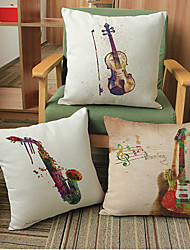 cheap -3 pcs Linen Pillow Case, Novelty Modern/Contemporary