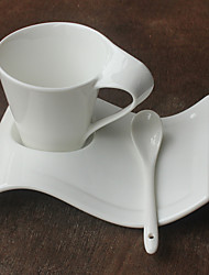 1 PC 180ML Hotel Ceramic Cup And Saucer Shaped Bone China Cup Dish Creative S Coffee Cup Dish Black Tea Cup