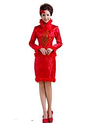 cheap -Classic/Traditional Lolita Vintage Inspired Elegant Cosplay Lolita Dress Print Long Sleeves Dress For Terylene