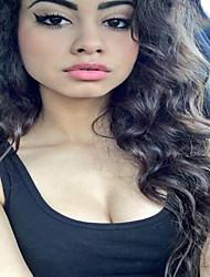 Full Lace  Wig Brazilian Virgin Human Hair Deep Wave Wig For African American Women
