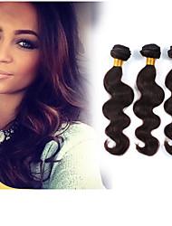 billige -3 Bundler Brasiliansk hår Krop Bølge 8A Menneskehår, Bølget Menneskehår Vævninger Menneskehår Extensions