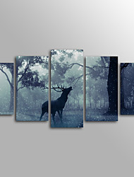 cheap -Animal Modern,Five Panels Canvas Horizontal Print Wall Decor For Home Decoration