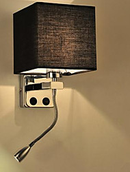 cheap -The Modern Hotel Room Reading Creative Fabric Corridor Balcony Led Bedside Lamp