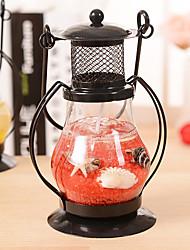 Aladdin's Light Candlestick Retro Lantern Metal Crafts Home Restaurant Romantic Candlelight Dinner Lamps Candle Holder Decor Ramdon Color