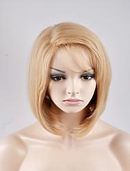 Femme Perruque Synthétique Sans bonnet Court Raide Blond Perruque Naturelle Perruque Déguisement