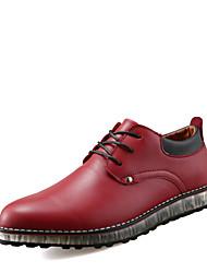 economico -Da uomo-Sneakers-Casual-Comoda-Piatto-PU (Poliuretano)-Nero Rosso Beige
