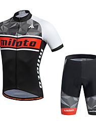 Miloto Maglia con pantaloncini da ciclismo Per uomo Manica corta Bicicletta Pantaloncini /Cosciali Maglietta Felpa Maglietta/Maglia Top
