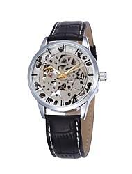 Pánské Sportovní hodinky Módní hodinky Náramkové hodinky mechanické hodinky Automatické natahování S dutým gravírováním Pravá kůže Kapela