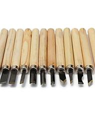 Недорогие -Резьба по дереву с 65 марганцевой ручкой для резьбы по дереву из 12 предметов из 1 комплекта
