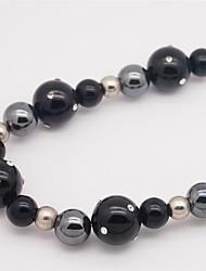 Femme Colliers chaînes Onyx Strass Forme de Cercle Forme Ronde Agate Strass Circulaire Thérapie Magnétique Blanc Mat Bijoux Pour