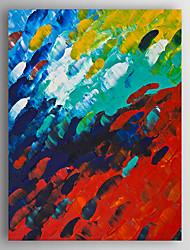 economico -Dipinta a mano Astratto Dipinti ad olio,Modern Un Pannello Tela Hang-Dipinto ad olio For Decorazioni per la casa