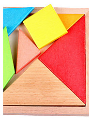 cheap -Tangram Building Blocks Wooden Puzzles 1pcs Novelty High Quality Girls' Boys' Toy Gift