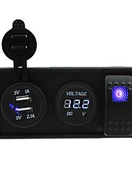 DC 12V / 24v 3.1a USB порт розетки и вольтметр с Кулисный перемычек и держатель корпуса