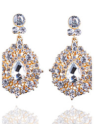 cheap -Europe And The United States Are Long Drop Shaped Diamond Earrings