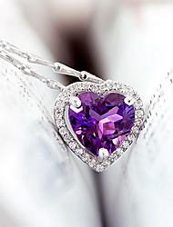 Недорогие -Кулоны Кристалл Драгоценный камень Базовый дизайн Уникальный дизайн Сердце Мода европейский Pоскошные ювелирные изделия Бижутерия
