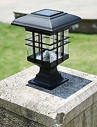 cheap -Solar Panel Lamp Post Column Headlights Fence Lamps Wall Lamp Headlamp Outdoor Garden Lights