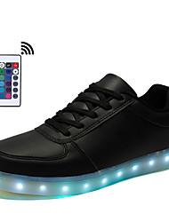 Herren Schuhe Kunststoff Frühling Sommer Herbst Winter Leuchtende LED-Schuhe Sneakers Schnürsenkel LED Für Normal Weiß Schwarz