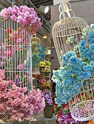 Недорогие -1 Филиал Шелк Сакура Искусственные Цветы 100CM