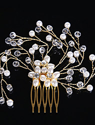 perle krystal hår kamme hovedstykke elegant klassisk feminin stil
