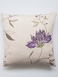cheap -Embellished&Embroidered Polyester Pillow Case  Traditional/Classic Accent/Decorative