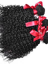 cheap -EVET Brazilian Curly Virgin Hair Extensions 3 Bundles Kinky Curly Human Hair Weave Brazilian Weft 100g/pc Free Shipping