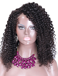 8A Grade Kinky Curly Lace Wigs Brazilian Lace Front Human Hair Wigs Natural Color Free Part Accept Custom